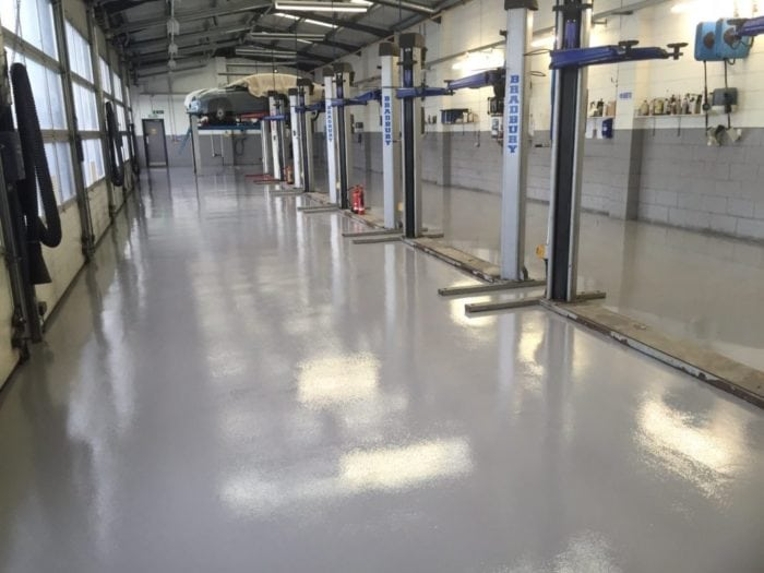 Epoxy Resin Coating | Howards Peugeot Gets Updated Showroom