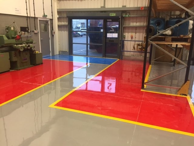 3mm SL epoxy resin screed, laid at a Compressor Manufacturers