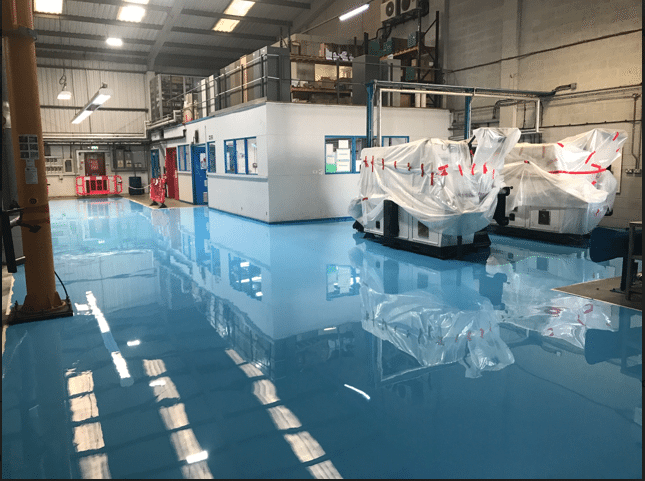SL Epoxy Resin Screed Laid at Labelling Manufacturer