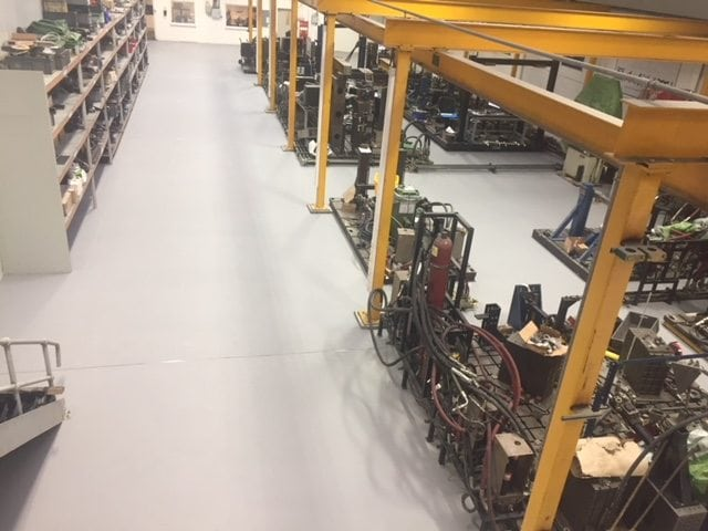 Heavy Duty Polyurethane Screed Laid At Automotive Factory