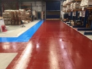 after epoxy resin floor coating