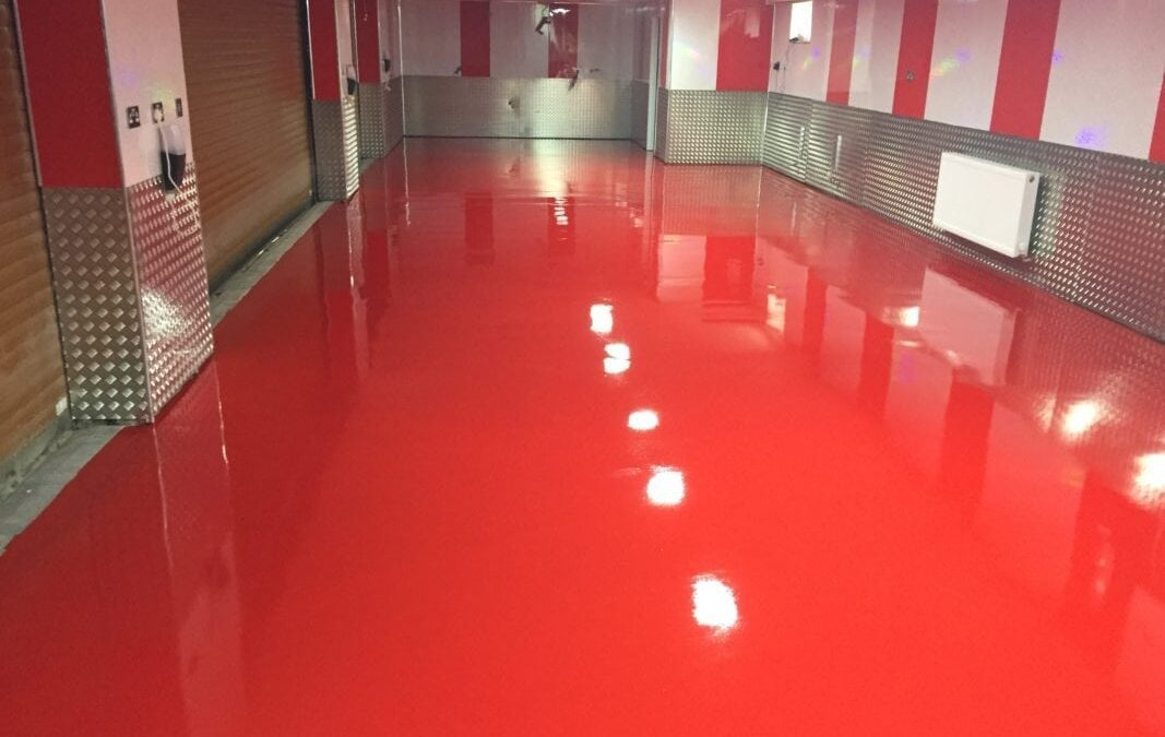 Epoxy Resin Floor Screed laid for busy Car Garage