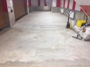 preperation before epoxy resin screed was laid