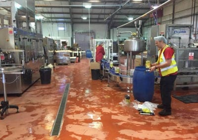 flooring for food processing