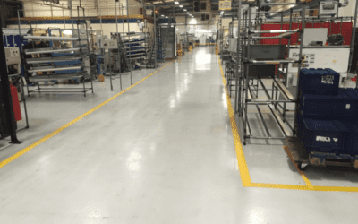 2000 sq mtrs of epoxy resin coatings recently completed for Automotive Component manufacturer.