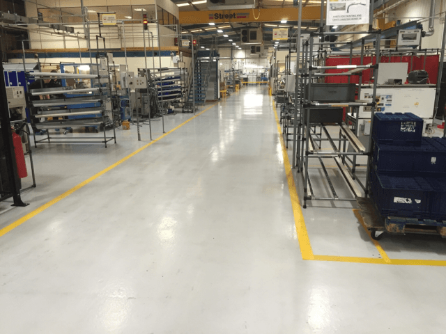 Resin coatings, 2000 sq mtrs recently completed for Automotive Component manufacturer.