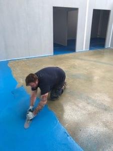 laying polyurethane resin
