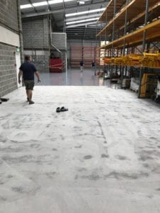 epoxy resin floor laying