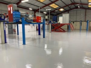 After preparation and epoxy resin flooring