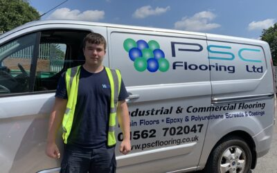 PSC Flooring welcome the newest member of the team – Bradley Mason