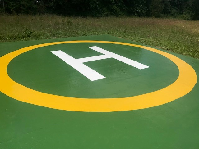Flying High | Helipad Epoxy Coating