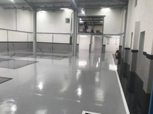 poured resin flooring