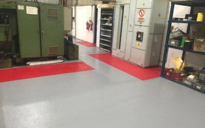 Non-slip flooring for Westley Plastics' Manufacturing Facilities