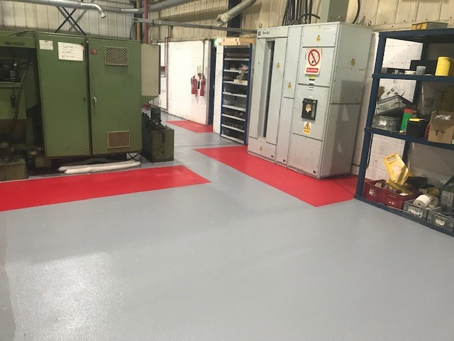 Non-slip flooring for Westley Plastics' Manufacturing Facilities