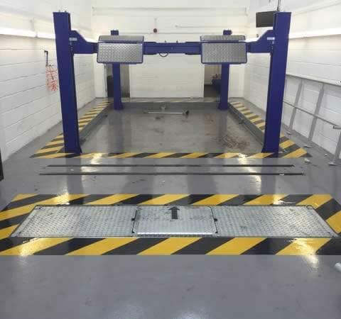 vehicle workshop flooring contractor