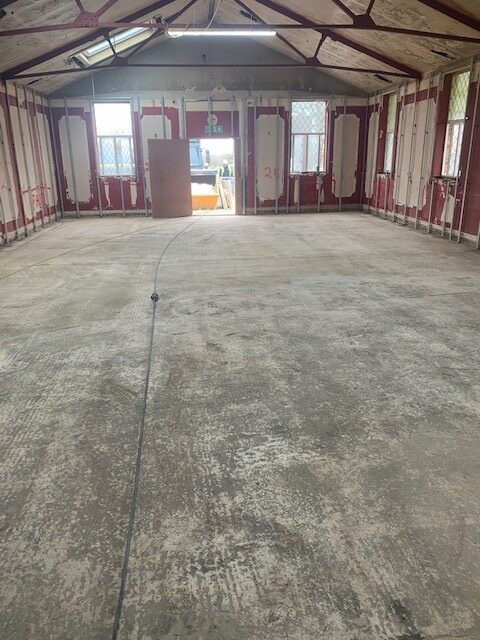 Before a commercial flooring installation