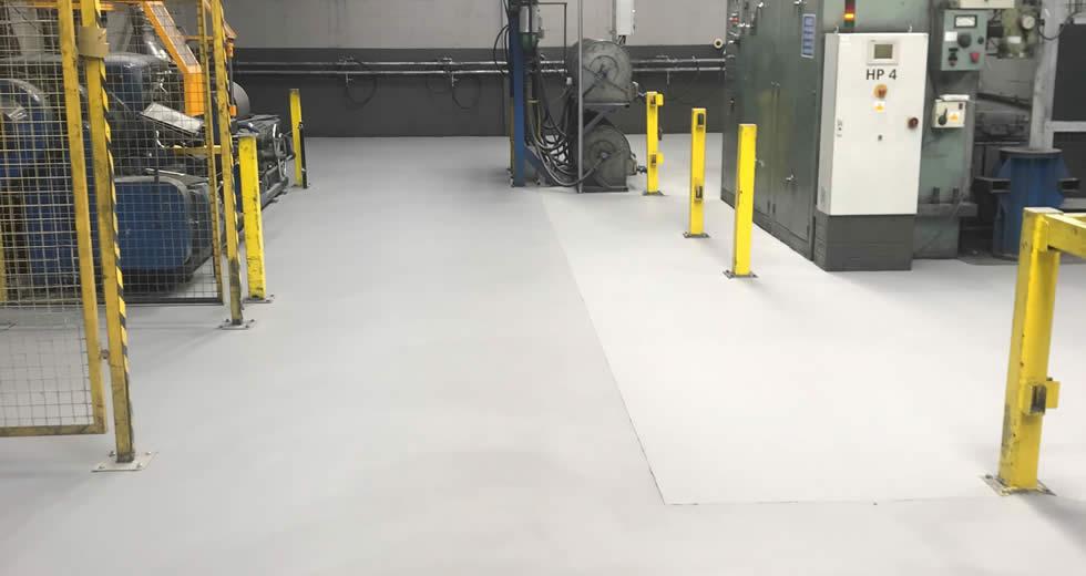 Kennametal Manufacturing UK Ltd - 6mm SL epoxy resin screed